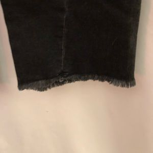 Pilcro and the Letterpress Jeans - Anthropologie Black High Rise flare frayed hem 29